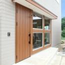 家の中に家がある多様な広がりのある家(安土の家)の写真 玄関