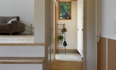 豊橋の家〜神社の緑を借景としたスキップフロアの家〜|豊橋の家〜神社の緑を借景としたスキップフロアの家〜