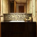 TOTOリモデルサービスの住宅事例「モザイクタイルが魅せるアーバンスペース」