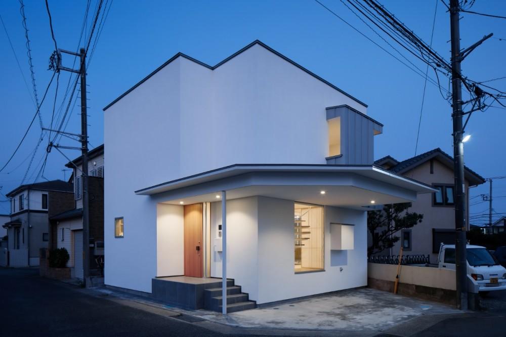 056平塚Kさんの家 (外観夕景)