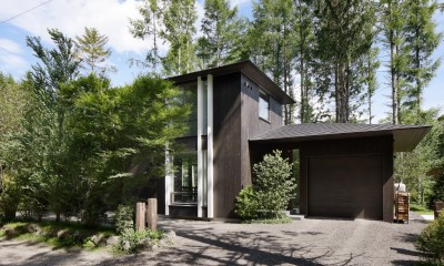 053 i-house in 軽井沢 (道路側外観)