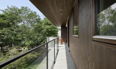 054那須Mさんの家 (バルコニー)