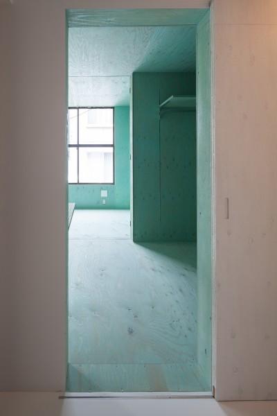 寝室 (宮の坂の住宅)