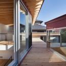 荻窪の住宅の写真 デッキ空間(屋根)