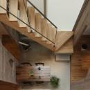 物語のなかに入ったようは非日常を感じられる家(羽束師の家)の写真 階段