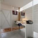 服好きなショップのような住まい(東林口の家)の写真 洗面スペース