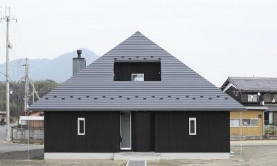 外観|薪ストーブのある三角屋根の暮らしを楽しむ家(末広の家)