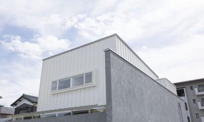 外観|プライバシーを確保しつつ開放的な旗竿地に建つ家(草津の家)