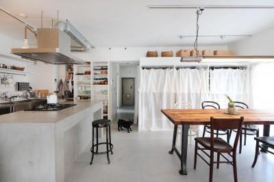 ダイニングキッチン (モールテックスの家)