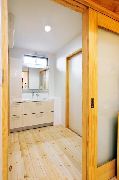 洗面所 (大胆な間取り変更で二世帯住宅問題を解決)