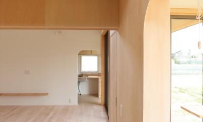 休耕地の家|仏間/広間/寝室|休耕地の家~農地転用後の平屋の住まい~