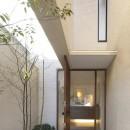 名古屋市N邸~高低差がある敷地のガレージハウスの写真 エントランスアプローチ