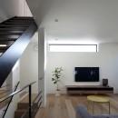 名古屋市N邸~高低差がある敷地のガレージハウスの写真 リビング