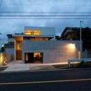 名古屋市T邸~混構造のガレージハウスの写真 外観夜景