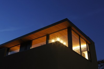 外観夜景(見上げ) (名古屋市S邸~ラグジュアリーなLDK空間があるガレージハウス)