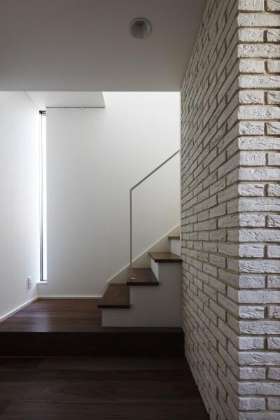 自然光が降り注ぐ階段室 (名古屋市S邸~ラグジュアリーなLDK空間があるガレージハウス)