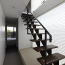 名古屋市H邸~STEP HOUSEの写真 スチール製のスケルトン階段