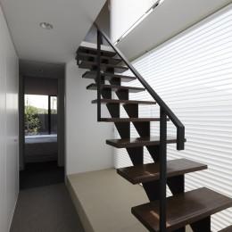 名古屋市H邸~STEP HOUSE (スチール製のスケルトン階段)