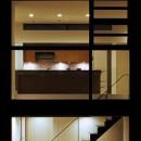 名古屋市H邸~STEP HOUSEの写真 キッチン夜景