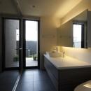 名古屋市H邸~STEP HOUSEの写真 間接照明のあるパウダールーム