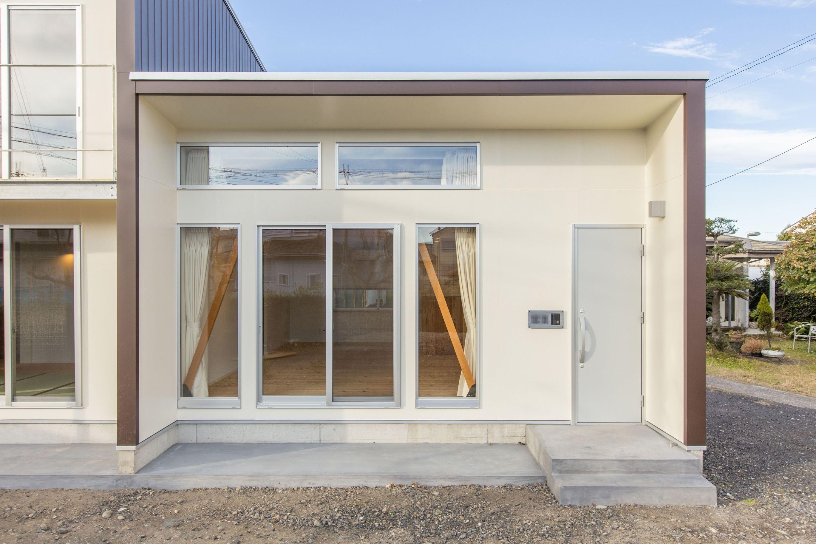 玄関事例:玄関とポーチ(3-BOX 1800万円の家)