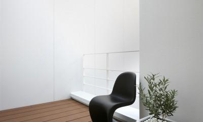 豊田市A邸~インナーテラスと吹抜けのある大判タイル貼の住宅 (柔らかい光に包まれた2階デッキテラス)
