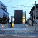 名古屋市T邸~幾つもの外部空間を内包する家の写真 外観夜景