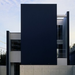 名古屋市T邸~幾つもの外部空間を内包する家 (一つのBOXと2枚のL字形の壁で構成される)