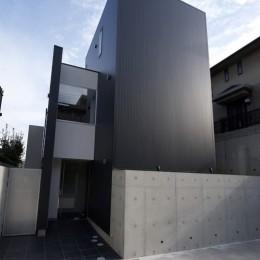 名古屋市T邸~幾つもの外部空間を内包する家 (エントランス)