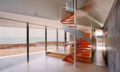 日立市S邸~全室から海を眺望できる別荘 (太平洋に面したリビングダイニング)