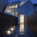 建物探訪で放送 目黒のスキップフロアの家 ハコノオウチ13の写真 外観夜景