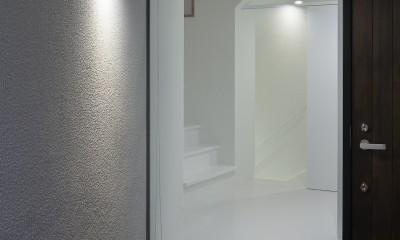 建物探訪で放送 目黒のスキップフロアの家 ハコノオウチ13 (玄関ポーチ)
