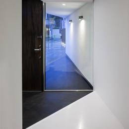 建物探訪で放送 目黒のスキップフロアの家 ハコノオウチ13 (玄関から外を見る)