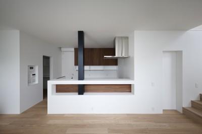 対面木キッチン (建物探訪で放送 目黒のスキップフロアの家 ハコノオウチ13)