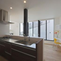建物探訪で放送 目黒のスキップフロアの家 ハコノオウチ13 (キッチン)