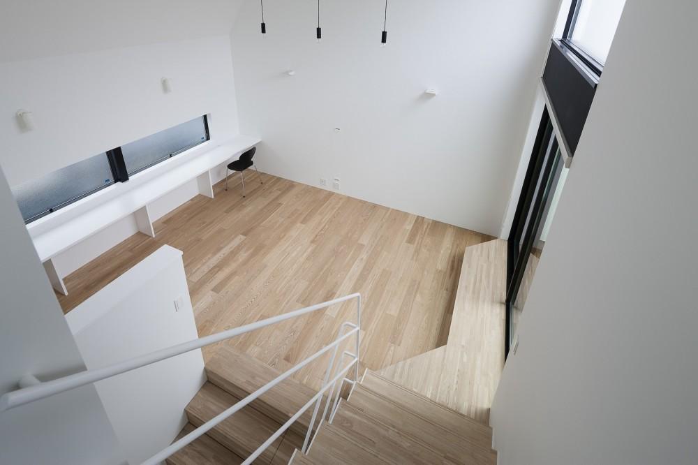 建物探訪で放送 目黒のスキップフロアの家 ハコノオウチ13 (子供室から見下ろす)