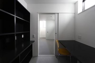 書斎 (建物探訪で放送 目黒のスキップフロアの家 ハコノオウチ13)
