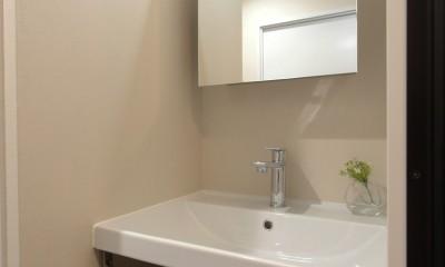 洗面室|自分らしい暮らしを形にした中古マンションリノベーション
