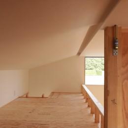 休耕地に建つ女性のための住宅 (休耕地の家|ロフト1)