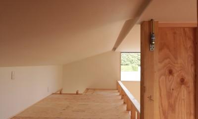 休耕地の家|ロフト1|休耕地に建つ女性のための住宅
