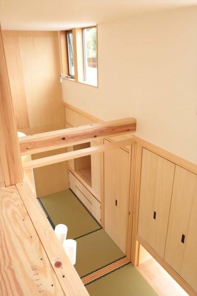 休耕地の家|ロフト/和室 (休耕地に建つ女性のための住宅)