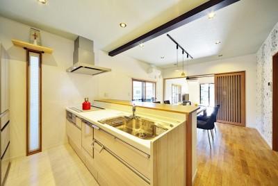 キッチン (集う家(フレキシブルリビング))