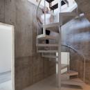 白山戸建てリノベーションPJの写真 内部階段