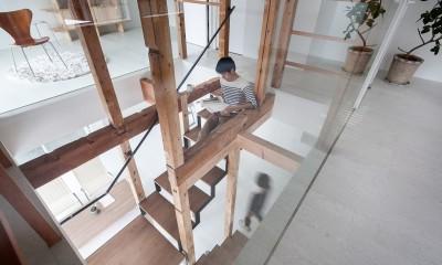 白山戸建てリノベーションPJ (階段室)