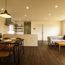 インテリアを愉しむブルックリンスタイルな空間 (LIVING&DINING&KITCHEN)