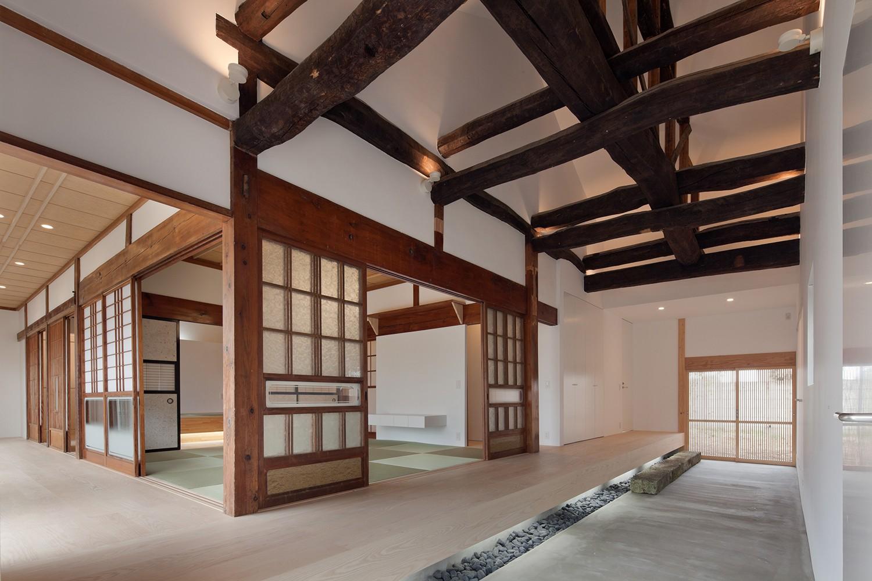 玄関事例:土間(上三川町の民家)