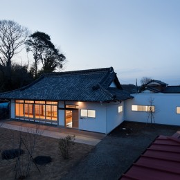 上三川町の民家 (外観夜景)