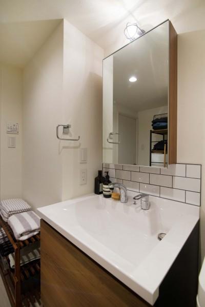洗面台 (リノベ+リノベで好みのお部屋に)