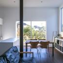 『やはぎの家』借景を楽しめるいろいろな居場所がみつかる家の写真 借景を楽しむ窓