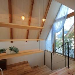 八尾の家(コンセプトハウス) (書斎・2Fホール)
